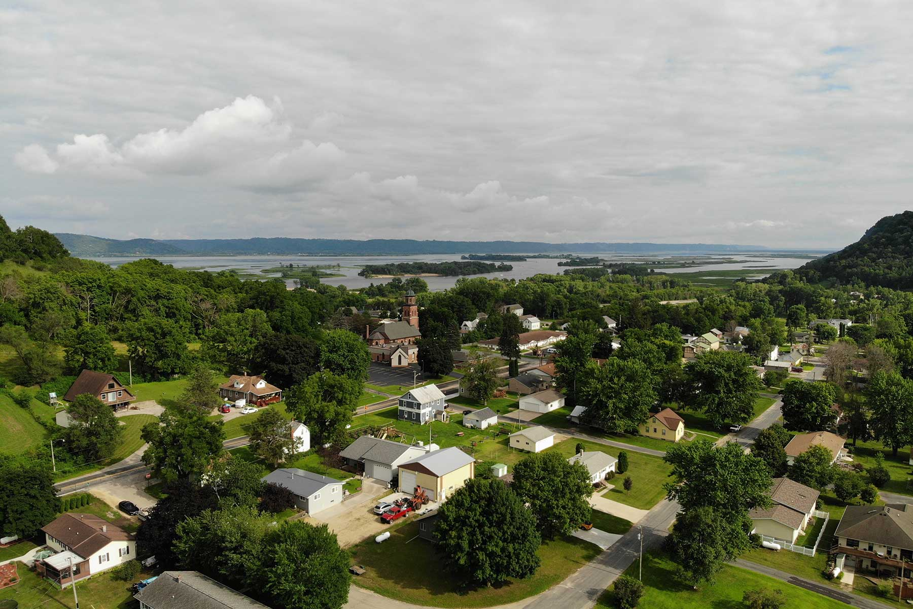 Aerial View of Brownsville MN